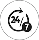 24* 7 inbuilt critical alert for emergencies