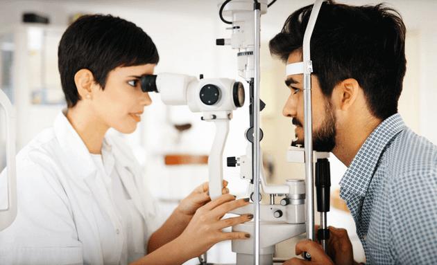 Getting-eye-exam-done-